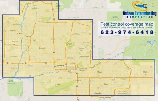 Pest Control Coverage Map